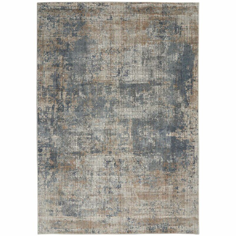 Williston Forge Sheridan Abstract Blue Gray Area Rug Reviews Wayfair Blue Gray Area Rug Area Rugs Modern Area Rugs