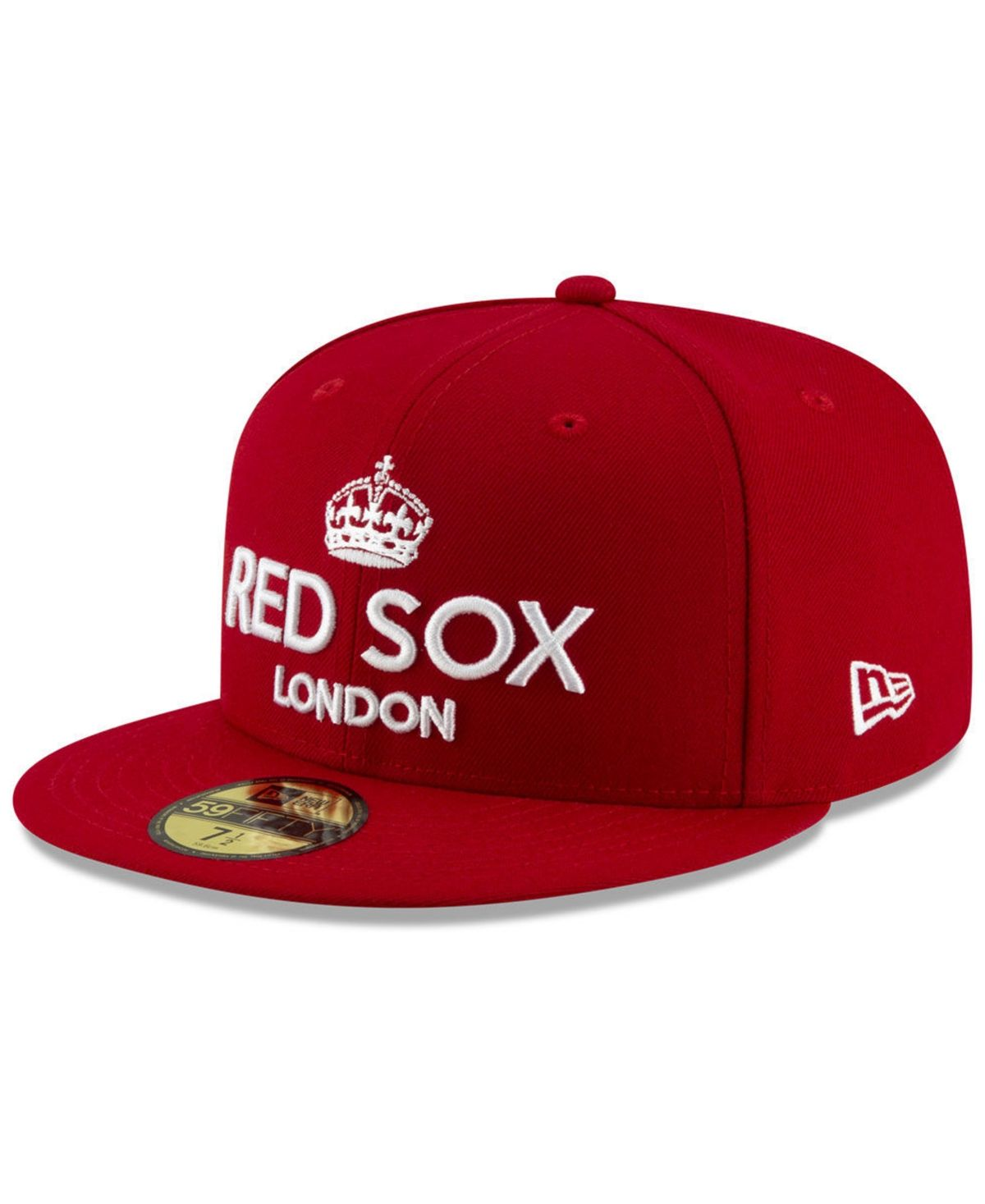 New Era Boston Red Sox London Series 59fifty Fitted Cap Red