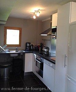 Location pour vos vacances en normandie à proximité de rouen avec une cuisine équipée et une cheminée