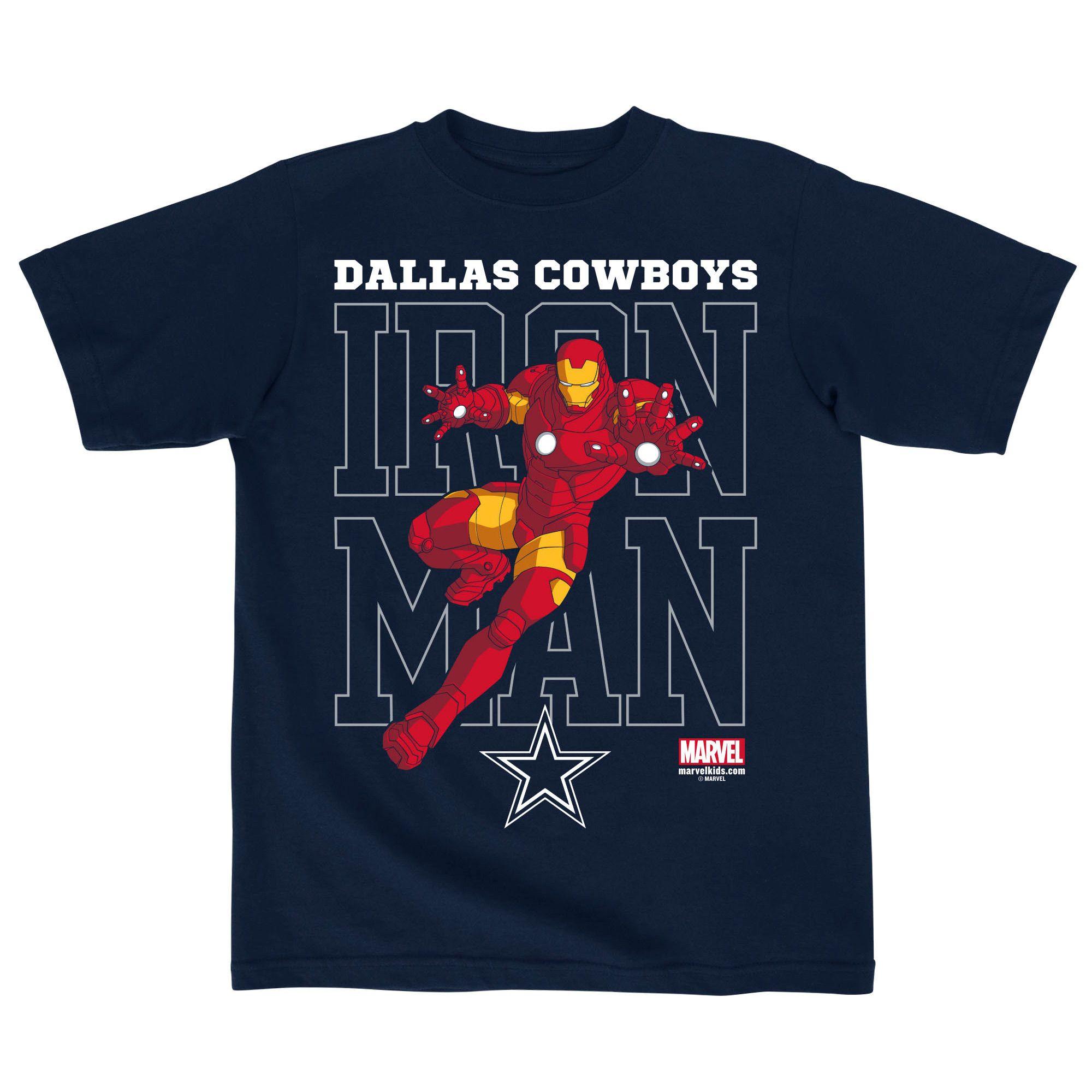 Fl Dallas Cowboys Preschool Marvel Iron Man Defender T