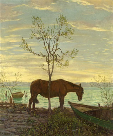 Mudes Pferd By Hans Dieter Global Art Art Art Market