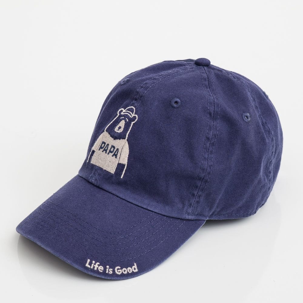 75c43289fcd Life is Good Papa Bear Chill Cap in Darkest Blue at The Paper Store ...