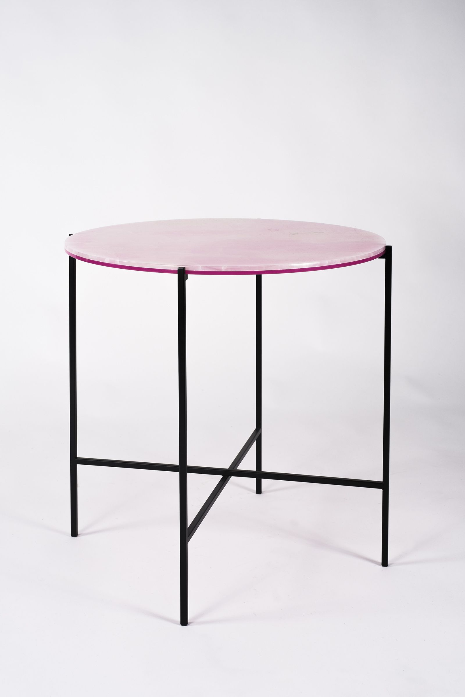 Haymann editions i side tables tray from onyx and acrylic