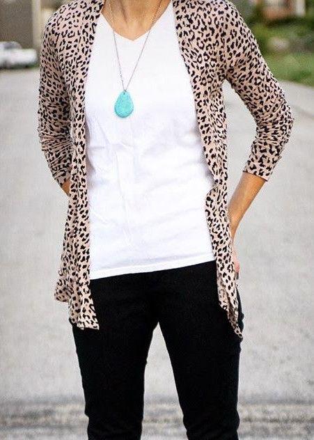 Classic Leopard Print Cardigan – Jess Lea Boutique ...