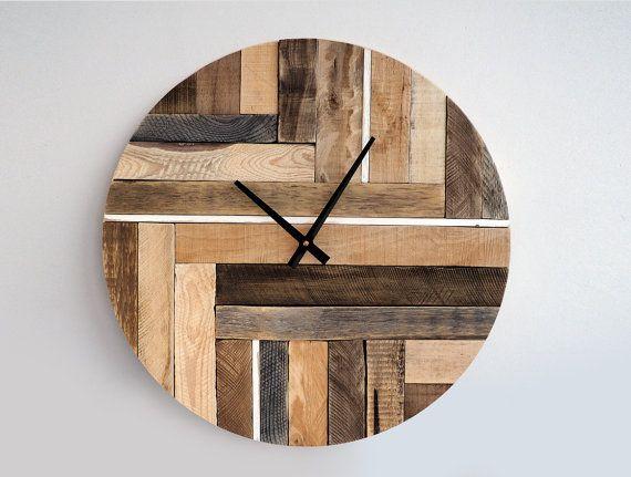10 relojes muy originales hechos con palets Pinterest Relojes de - pared de madera