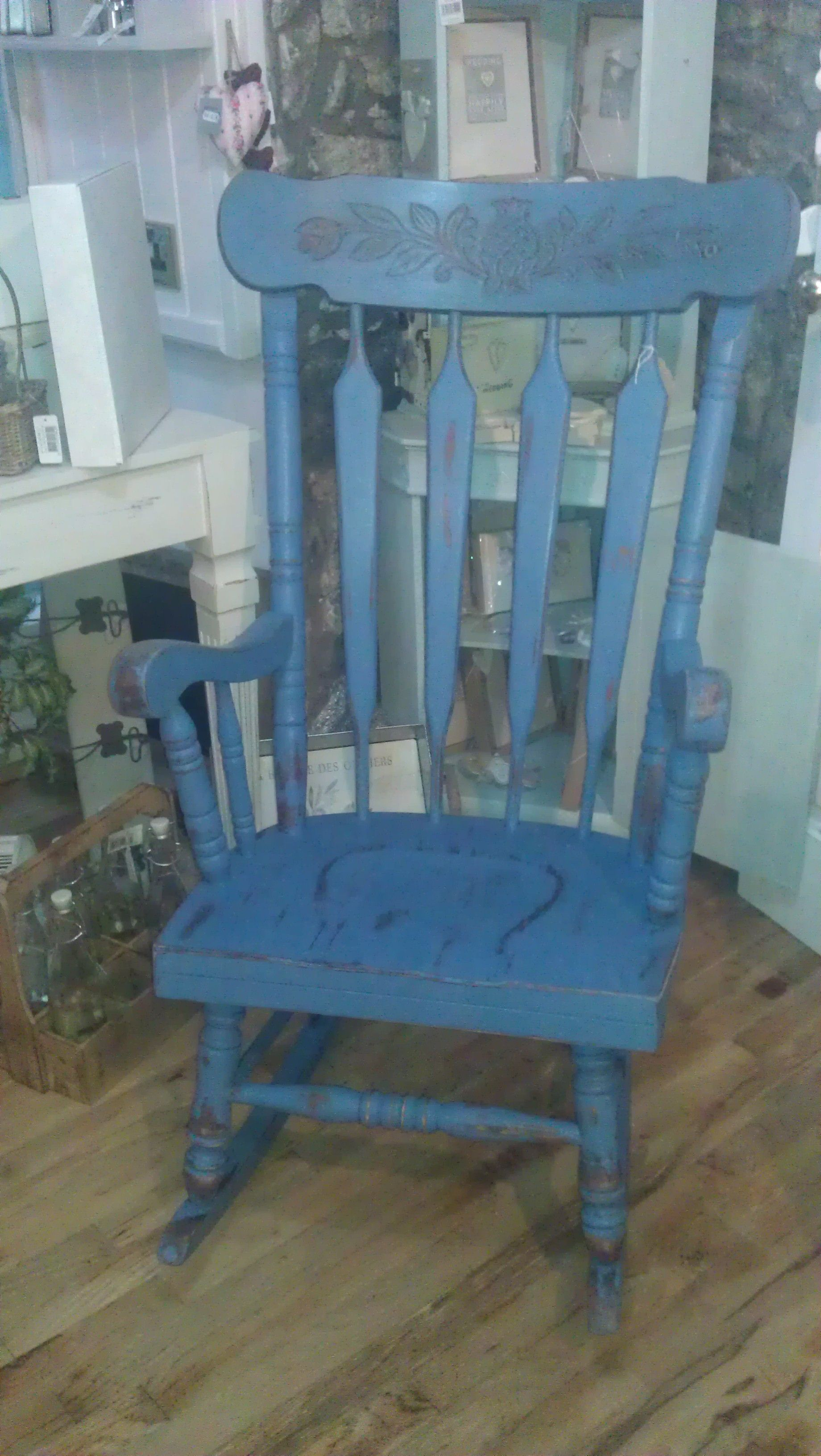 Amazing photo of  Annie Sloan Chalk Painted rocking Chair Painted Chairs Pinterest with #416682 color and 1840x3264 pixels