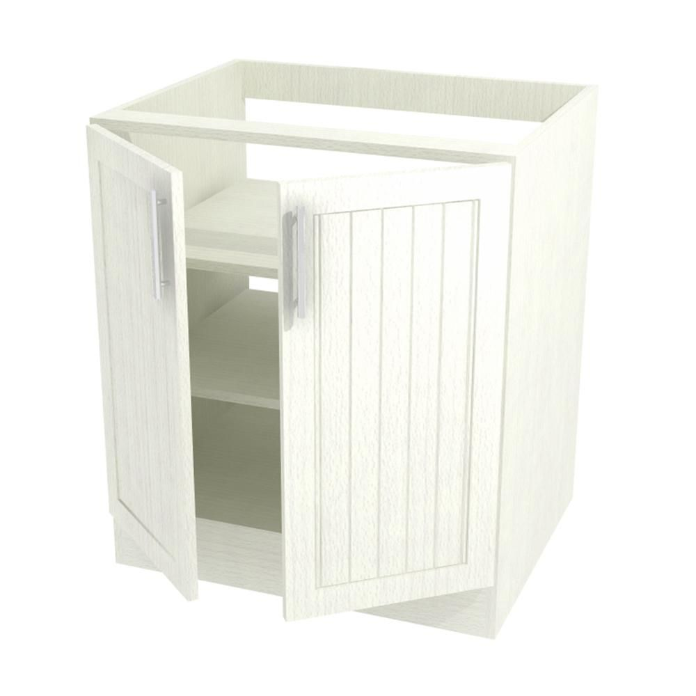 Naples Open Back Outdoor Base Cabinet With 2 Full Height