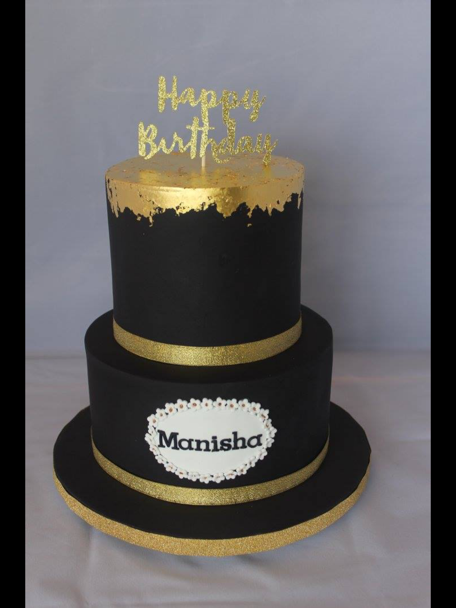 Black And Gold Leaf For Manishas 21st New Years Eve In 2019