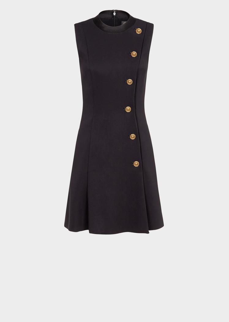 1dcfec91efac Versace - Medusa button black mini dress ( 2