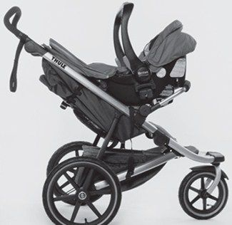 Thule Urban Glide Stroller And Jogger With Car Seat Adapter Holding