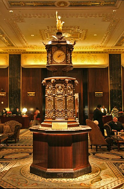 Waldorf Astoria Clock Waldorf Astoria Unique Hotels Beautiful Hotels Lobby