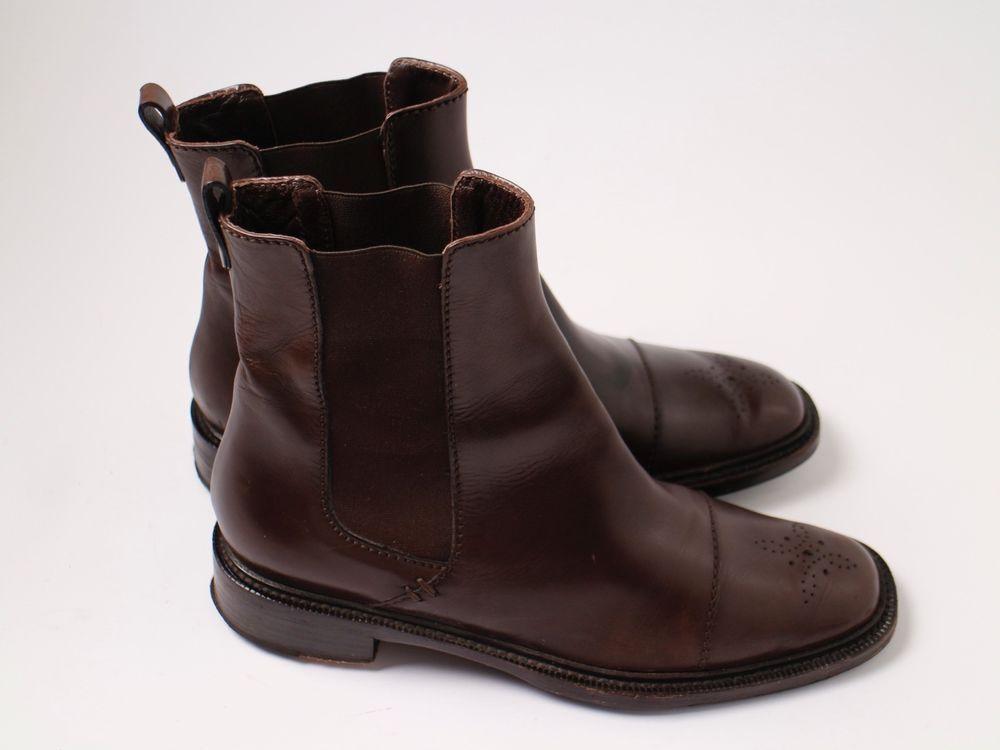boss stiefel gr 38 37 braun luxus leder schuhe boots damen. Black Bedroom Furniture Sets. Home Design Ideas