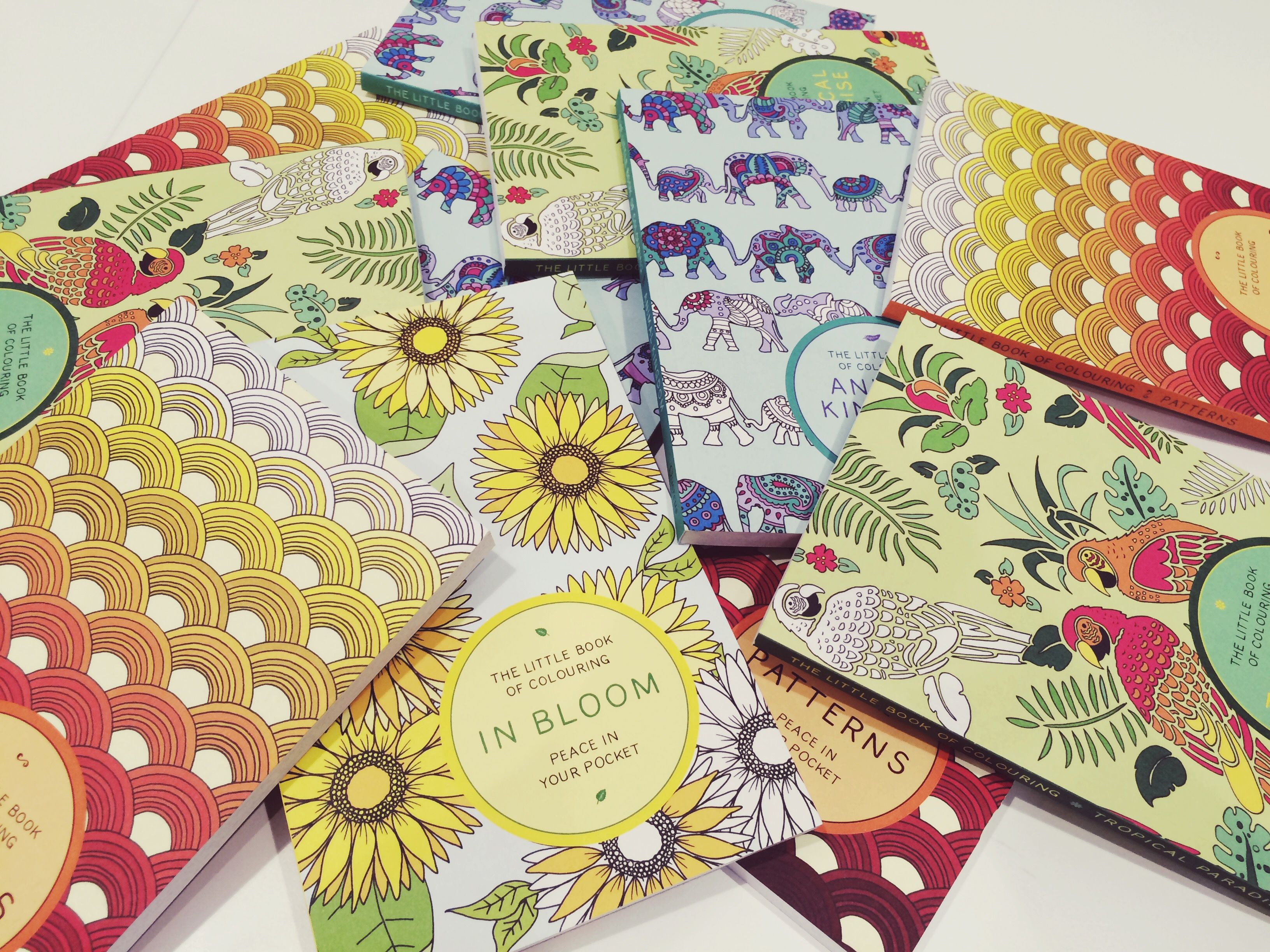 Little book of coloring for mindfulness - What A Beautiful Bundle Of Books The Four Titles In The Little Book Of Colouring