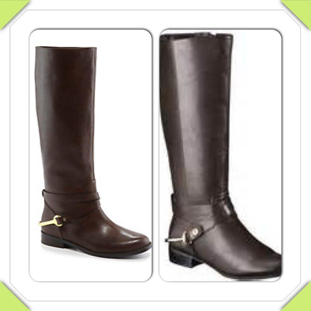 Brown riding boots with harness detail  Ralph Lauren ''Jenny'' $249.99 Merona ''Kourtney'' (Target) $39.99