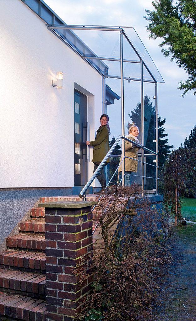 Vordach aus Edelstahl | Vordach, Selbst bauen und Schritt für schritt