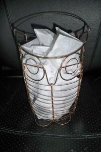 Owl Basket with Copper Colored Wire