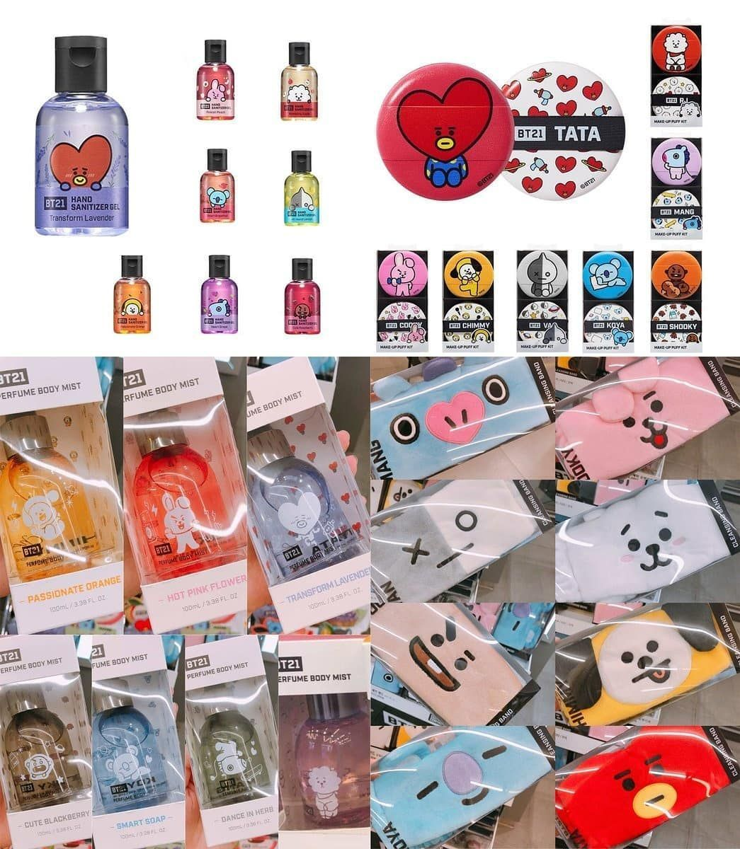 Pre Order Bt21xoliveyoung Hand Sanitizer Gel Idr 175 000