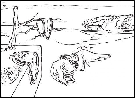 Memory-by-Salvador-Dali-coloring-page.jpg 465×338 pixels | Art ...