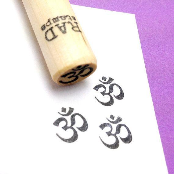 Om Rubber Stamp, Buddhist Hindu Sanskrit Symbol Yoga Meditation by RADstamps on Etsy