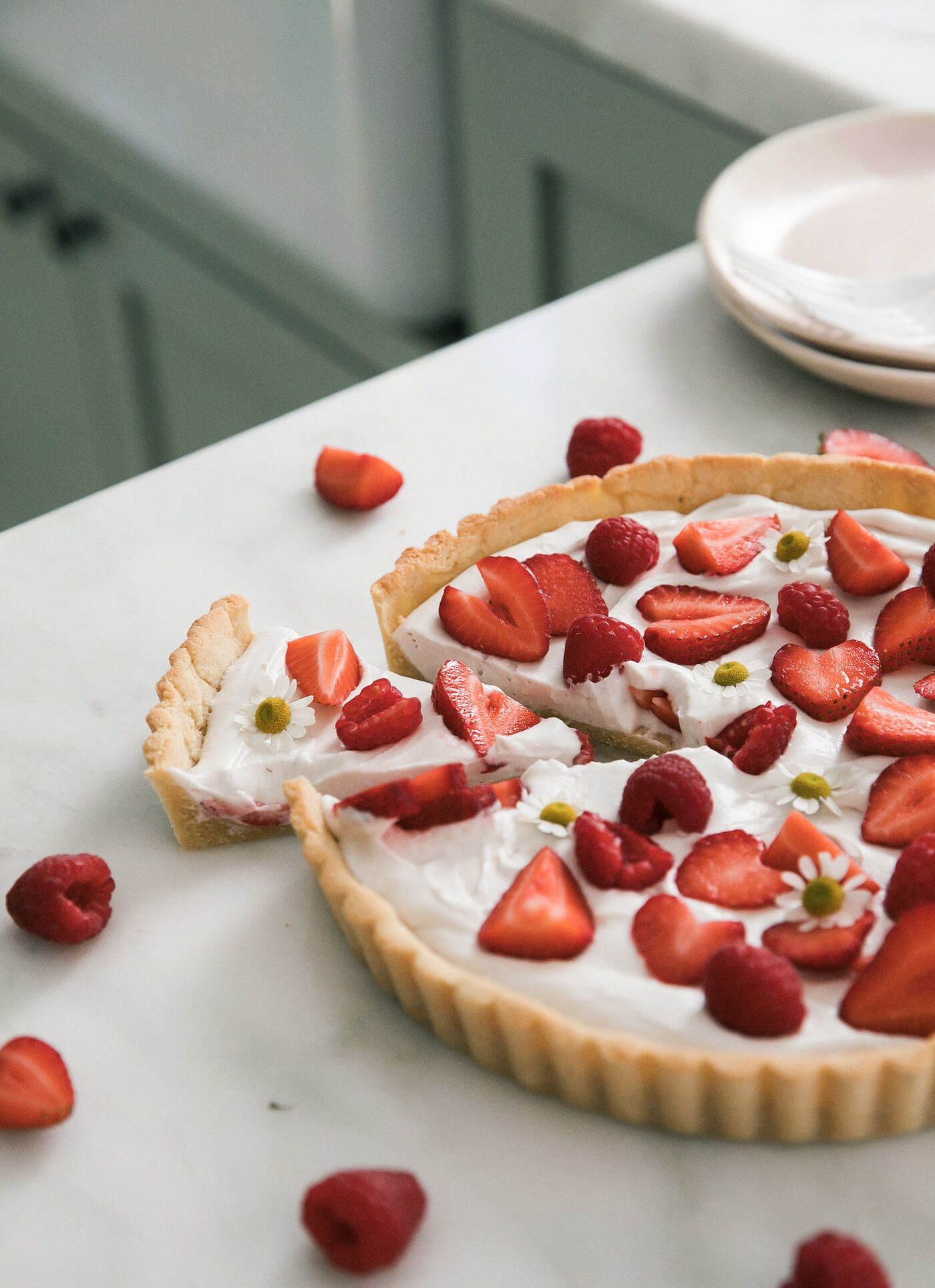 Gluten Free Summer Strawberry Coconut Tart Recipe With Images