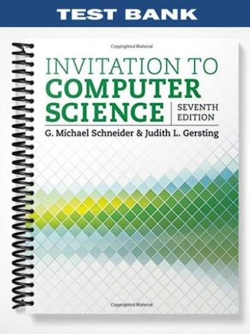 Test Bank For Invitation To Computer Science 7th Edition By