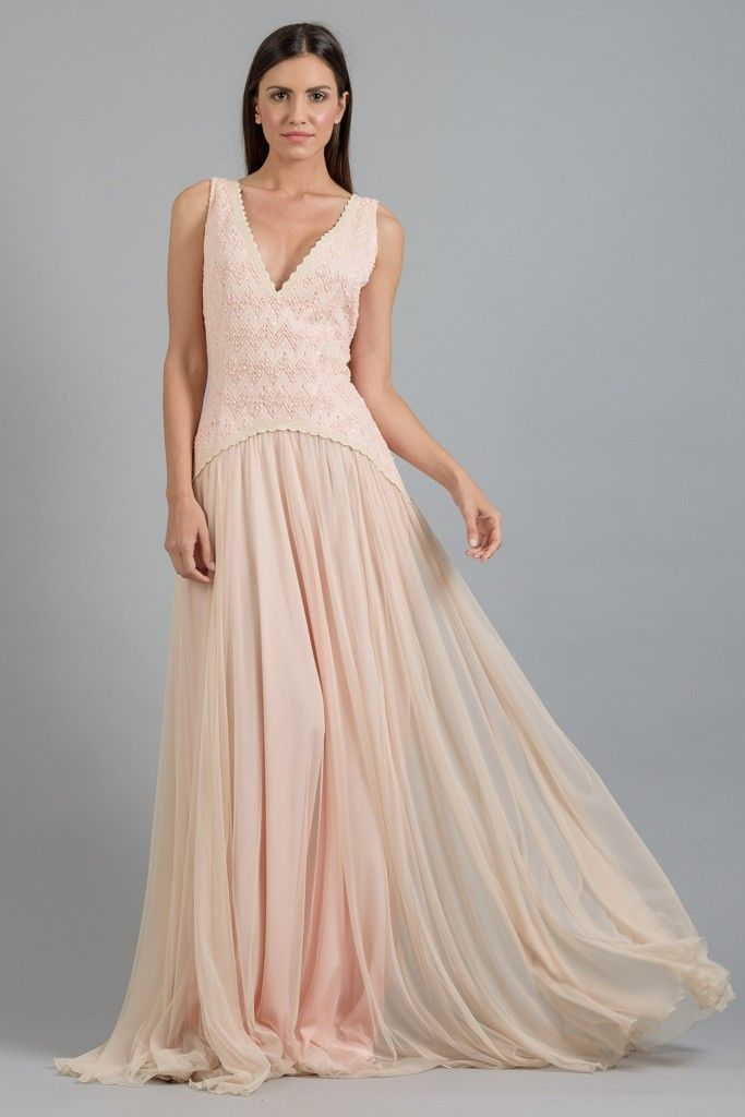 Maxi φόρεμα από μουσελίνα και δαντέλα στο www.primadonna.com.gr ... c388a6cd608