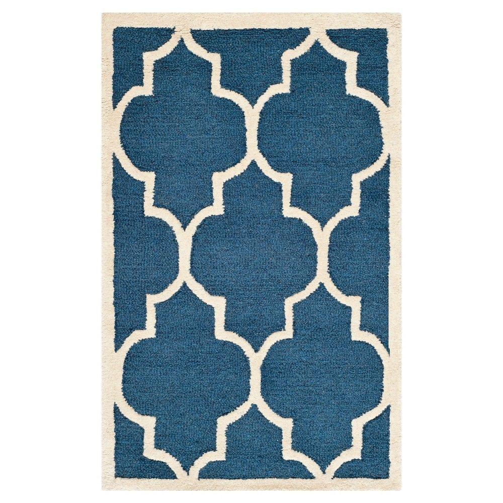 Safavieh Alexander Wool Textured Rug, Blue/Ivory