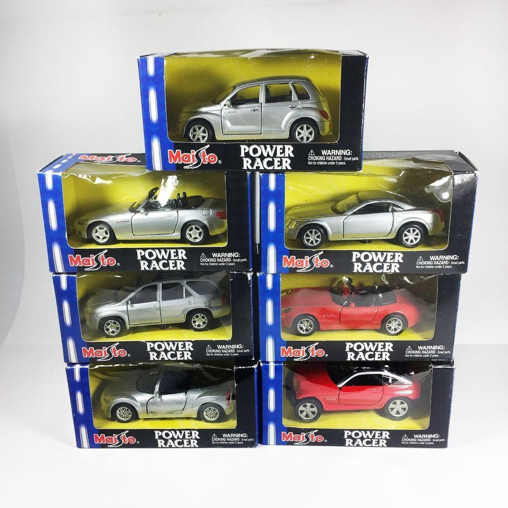 7 MAISTO 2001 POWER RACER Pullback 1:43 Diecast Cars