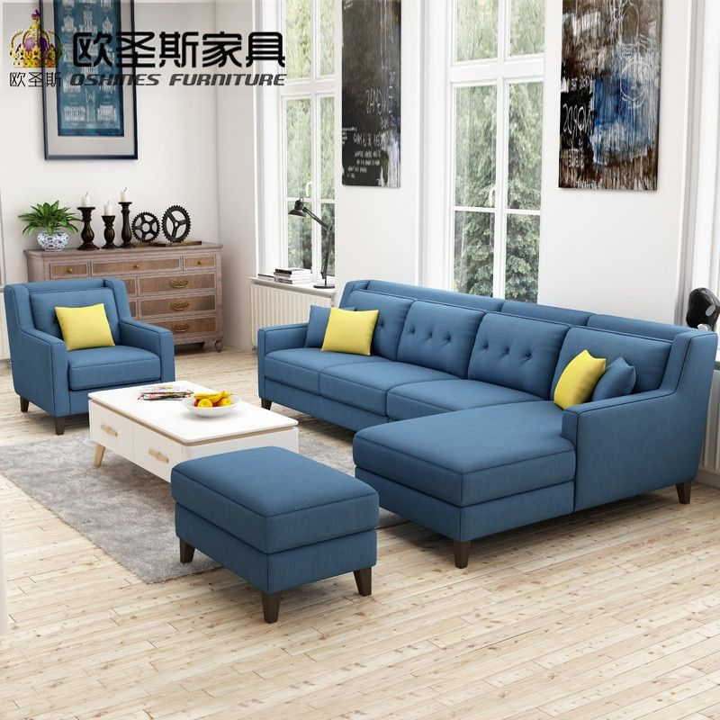 New Arrival American Style Simple Latest Design Sectional L Shaped Corner Livingroom Furniture Fabric Sofa In 2020 Corner Sofa Design Living Room Sofa Set Sofa Design