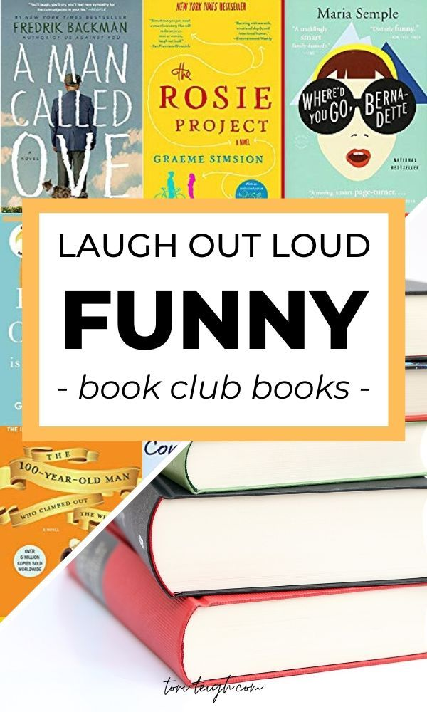 12 funny fiction books to read for your next book club! | #booklists #amreading #funnybooks