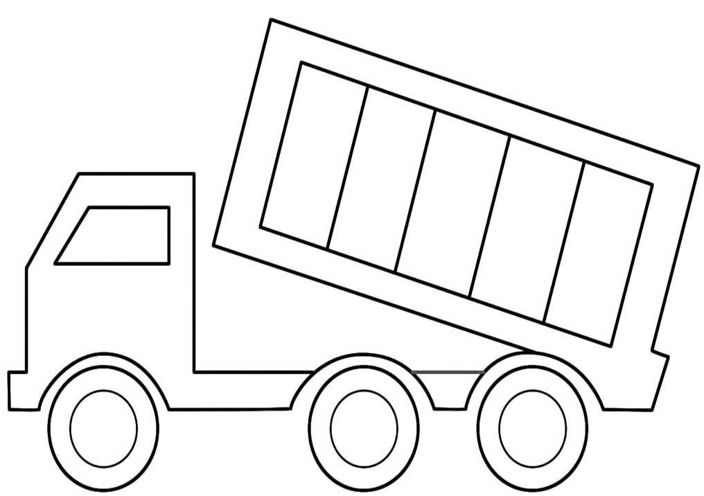 Simple Dump Truck Coloring Pages Printable Coloring Pages Truck Coloring Pages Free Coloring Pages