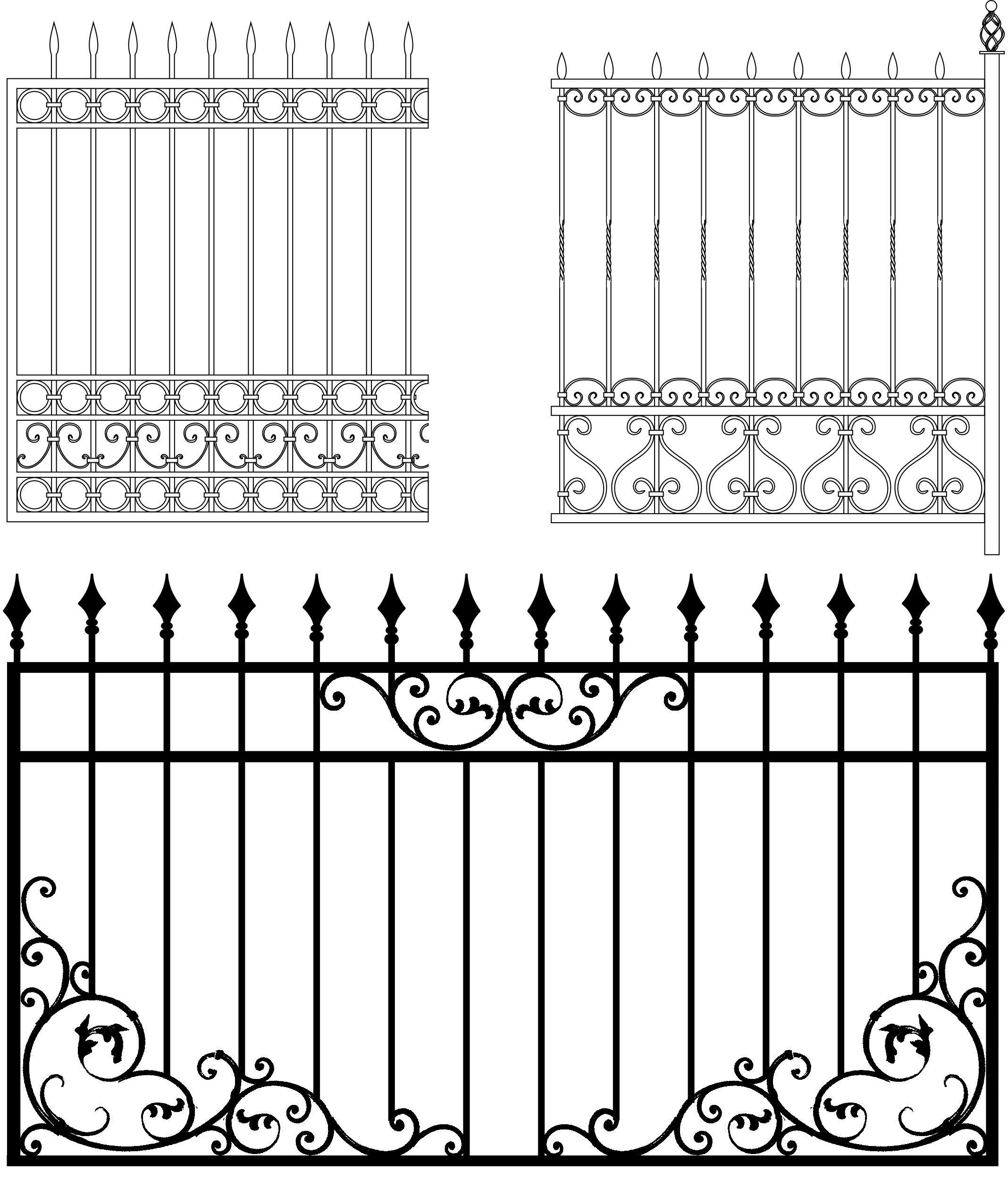 забор с вензелями рисунок картинка честь
