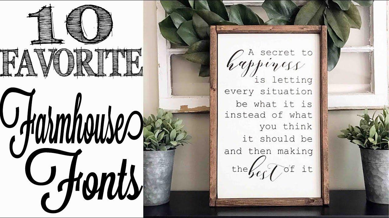 Cricut Craft Room Help: 10 Favorite Farmhouse Style Fonts
