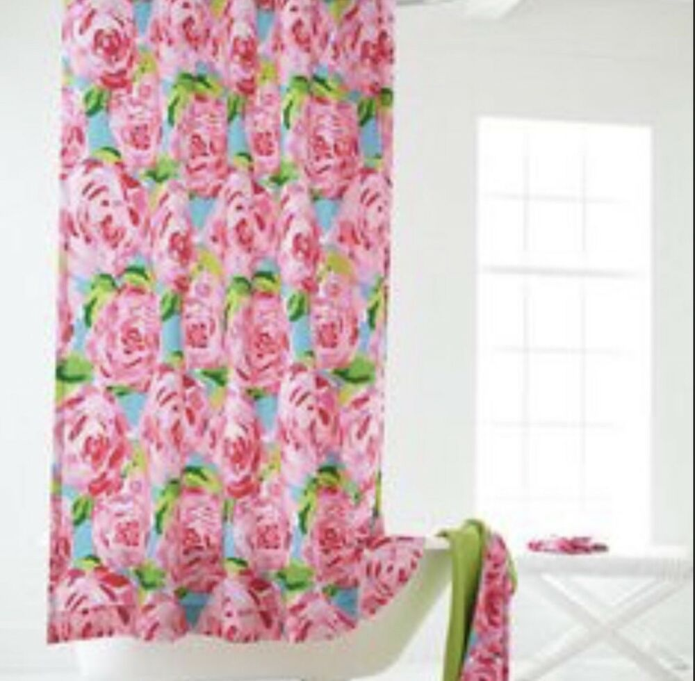 Hpfi Lilly Pulitzer Shower Curtain Hotty Pink First Impression