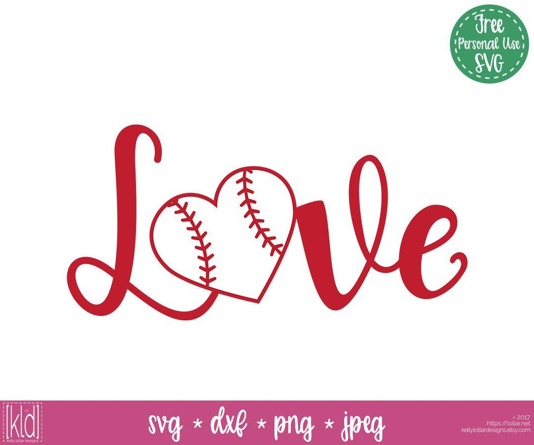 Download Script Love with baseball or softball heart for the o ...