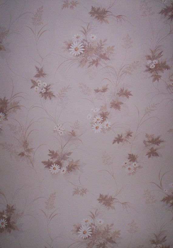 Vintage 70 S Tan And White Daisies Floral By Frenchtoastkitty 10 00 Daisy Wallpaper Vintage Vintage 70s