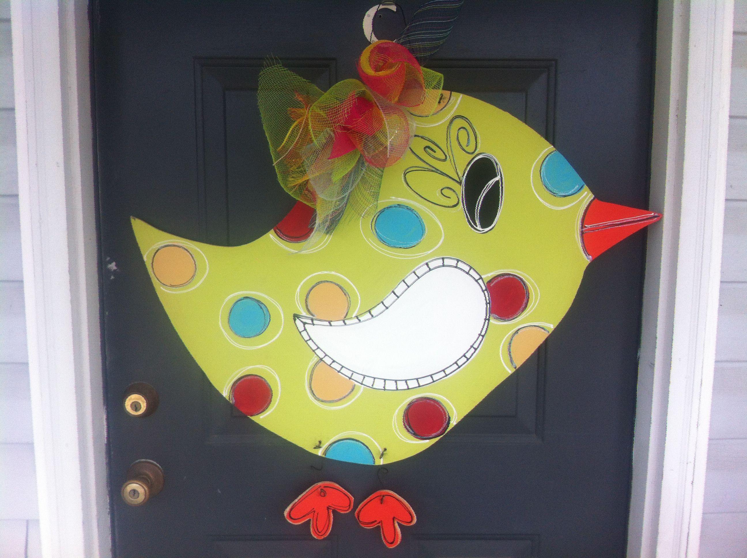 My cute front door hanger!!