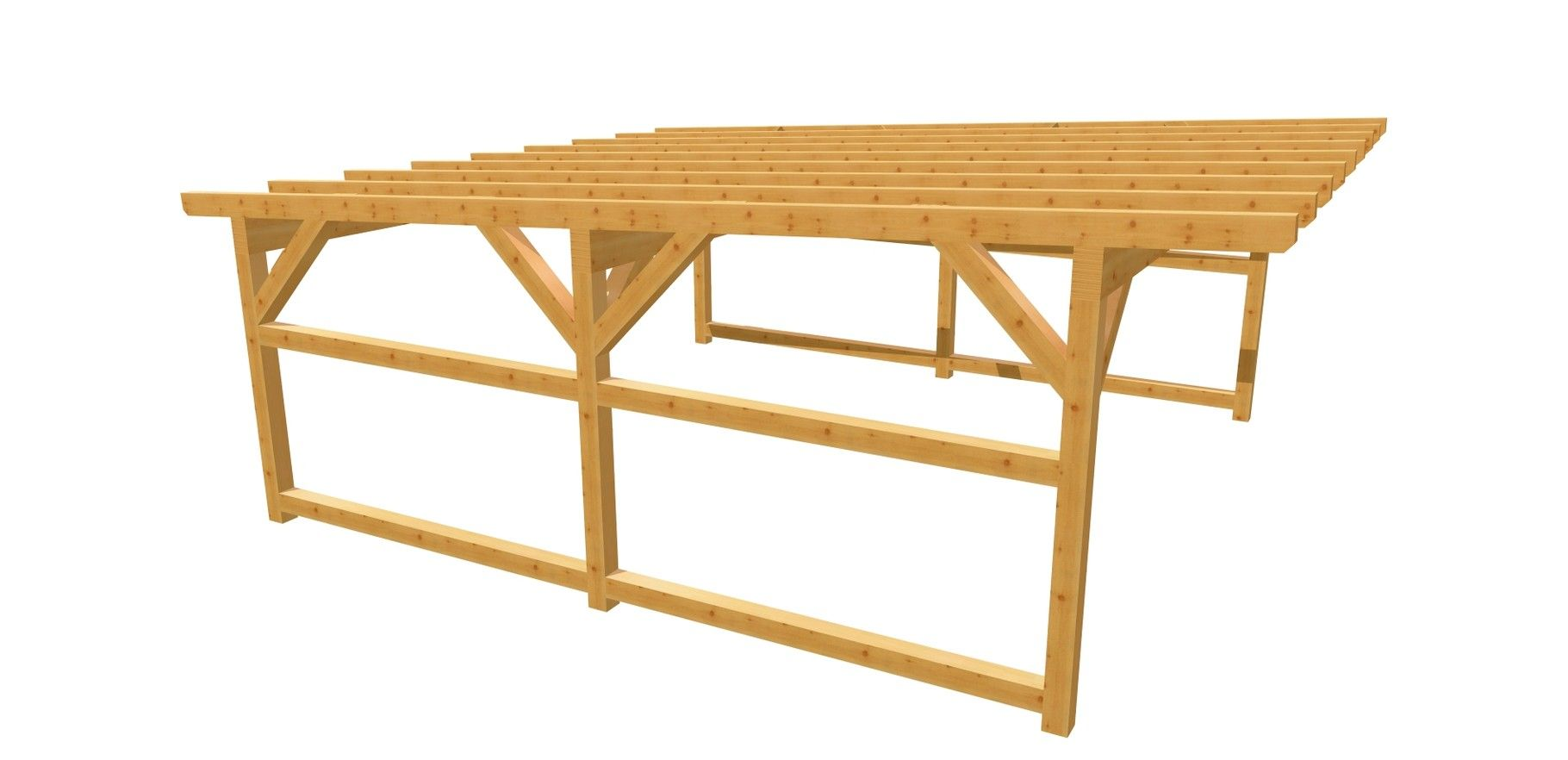 Doppel Carport Flachdach Bauanleitung 6m X 6m Carport Selber Bauen Carport Holz Bauplan