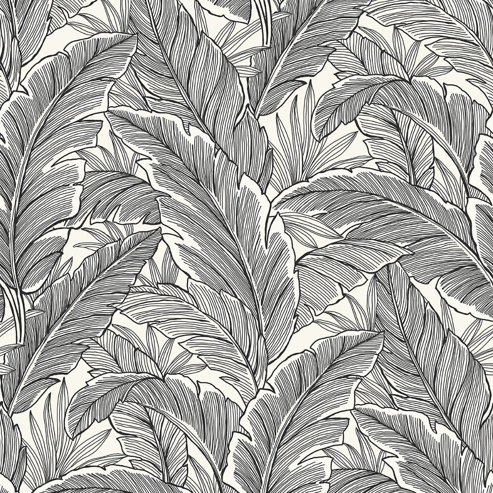 wallquest pear tree leaf pattern wallpaper modern metallic glitter