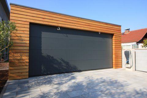 Montierte Holzgaragen Mit Grosse Gemeinsame Tor 5 7 X 6 3 M Holzgarage Fassade Haus Garage Und Hobbyraum
