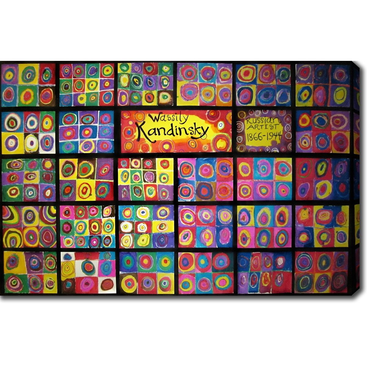 Wassily Kandinsky Squares With Concentric Circles Oil On Canvas Art