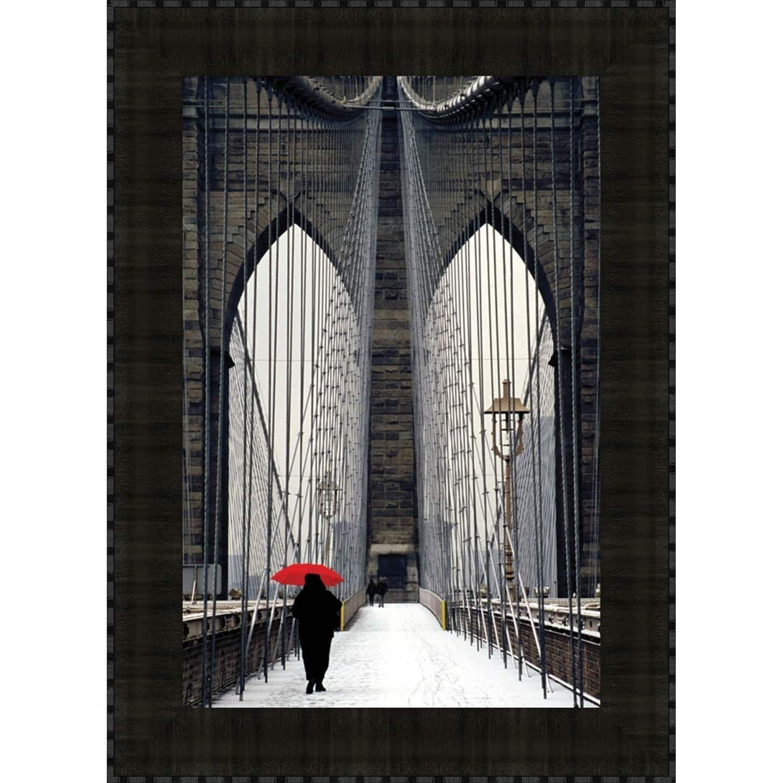 Midwest brooklyn bridge meets red by michael cahill fine art print