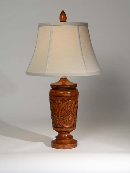 Hacienda Table Lamp Western Lamps Tastefully Sculpted Wood In A Warm Brown Finish From One Of Our Superior Quality Collections Western Lamps Lamp Table Lamp