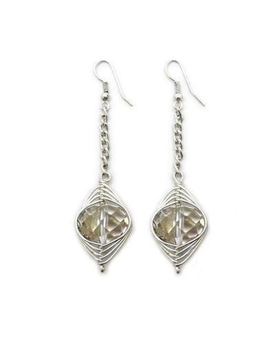 Crystal Drop Earrings.