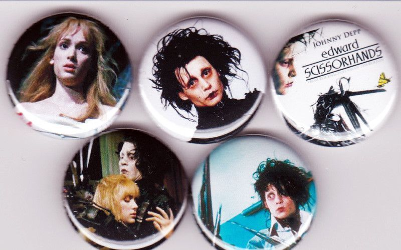5 Edward Scissorhands Pinback Buttons