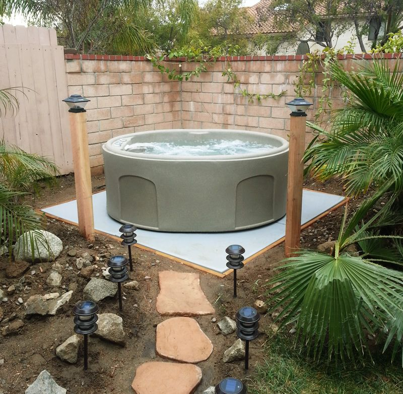 Ez Pad 174 Hot Tub Spa Base I Like The Stepping Stones And