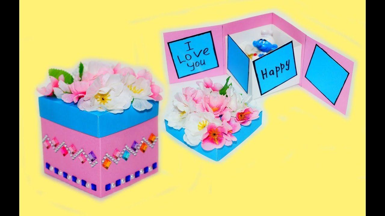 Idea Gift Box Gift Box Tutorial Greeting Card Ideas Diy Paper