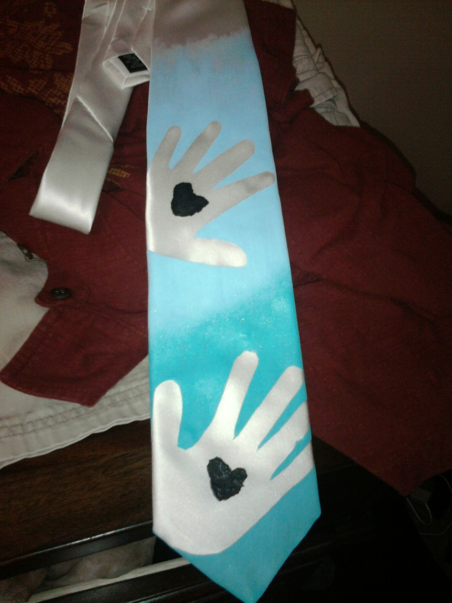 Image Only Fathersday Tie We Made 1 White Tie 2