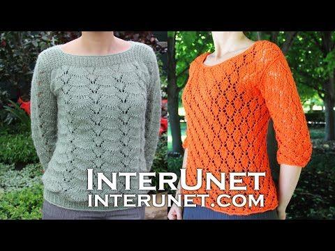 8ee6e13fe122 Long sleeve sweater crochet pattern. Learn how to crochet lace pullover. -  YouTube