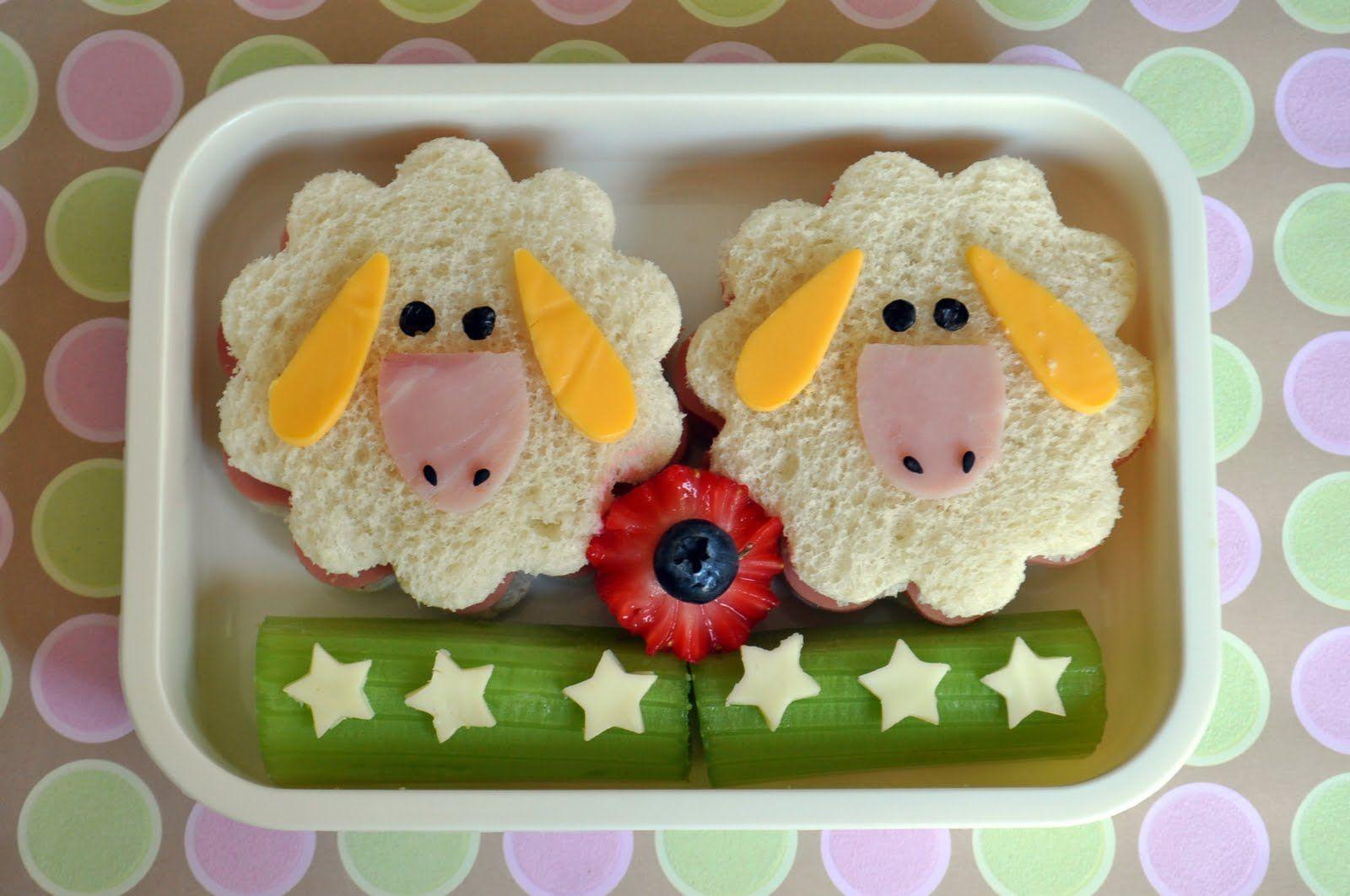 Sheep shaped sandwich delicioso comida creativa para for Comidas rapidas para ninos